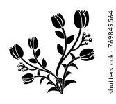 tulip flower icon image  | Shutterstock .eps vector #769849564
