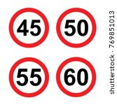 Speed Limit Sign Set 45   60 Mph