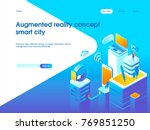 augmented reality concept.... | Shutterstock .eps vector #769851250