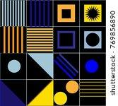 trendy geometric elements... | Shutterstock .eps vector #769856890