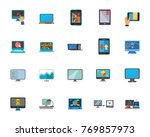 computer technology icon set | Shutterstock .eps vector #769857973