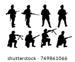 border guards. soldiers... | Shutterstock .eps vector #769861066