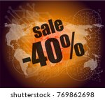 sale percentage on business... | Shutterstock . vector #769862698