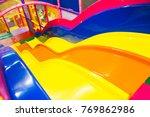 a modern children playground... | Shutterstock . vector #769862986