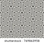 vector seamless lines pattern.... | Shutterstock .eps vector #769863958