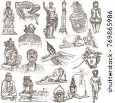 an hand drawn collection.... | Shutterstock . vector #769865986