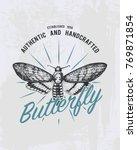 tee print butterfly  hawk moths ... | Shutterstock .eps vector #769871854