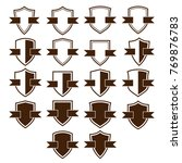 shield and ribbon icon... | Shutterstock .eps vector #769876783