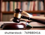 Law Gavel Or Judge Mallet On A...