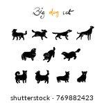 vector set of dog  silhuette ... | Shutterstock .eps vector #769882423