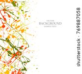 art  background  with  paint ...   Shutterstock .eps vector #769887058