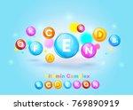 vitamin complex colorful vector ... | Shutterstock .eps vector #769890919