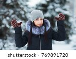 cute young woman portrait... | Shutterstock . vector #769891720