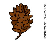 pinecone vector illustration.... | Shutterstock .eps vector #769892320