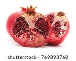 ripe pomegranate fruit seeds... | Shutterstock . vector #769893760