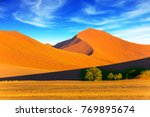 sunset in the desert. orange