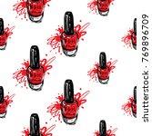 manicure vector seamless...   Shutterstock .eps vector #769896709