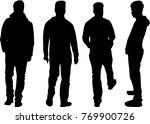 black silhouette of a man. | Shutterstock .eps vector #769900726