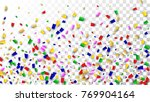 celebration confetti background.... | Shutterstock .eps vector #769904164