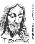 jesus christ  crucifixion. hand ...   Shutterstock .eps vector #769904470