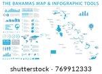 the bahamas map   detailed info ... | Shutterstock .eps vector #769912333