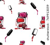 manicure vector seamless... | Shutterstock .eps vector #769913059
