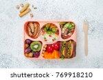 healthy food concept  open...   Shutterstock . vector #769918210