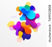fluid colorful bubbles.... | Shutterstock .eps vector #769923808