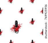 manicure vector seamless... | Shutterstock .eps vector #769925956