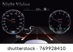 night vision. car dashboard  ... | Shutterstock .eps vector #769928410