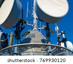 radio antenna and mobile... | Shutterstock . vector #769930120