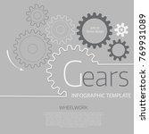 vector infographic template... | Shutterstock .eps vector #769931089