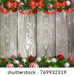 christmas decoration evergreen...   Shutterstock .eps vector #769932319