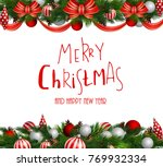 christmas decoration evergreen... | Shutterstock .eps vector #769932334