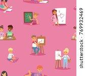 artist vector kids children... | Shutterstock .eps vector #769932469