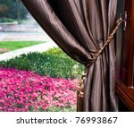 Elegant Curtain And Window In ...