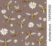 bee insects cartoon doodle... | Shutterstock .eps vector #769939030