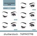 different types of eyelash... | Shutterstock .eps vector #769945798