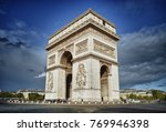 arc de triomphe against a blue... | Shutterstock . vector #769946398