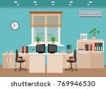 office room interior including... | Shutterstock .eps vector #769946530