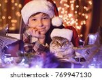 merry christmas and happy... | Shutterstock . vector #769947130