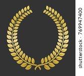 golden laurel wreath icon.... | Shutterstock .eps vector #769947400