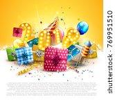 happy new year 2018   flyer...   Shutterstock .eps vector #769951510