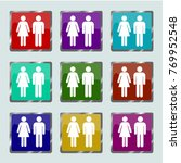 man and woman icon vector... | Shutterstock .eps vector #769952548