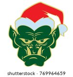 simple image of a head of orc... | Shutterstock .eps vector #769964659