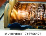 copper wire in electrical... | Shutterstock . vector #769966474