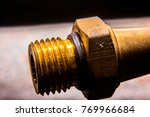 brass nut with industry. | Shutterstock . vector #769966684