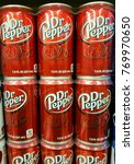 Small photo of Wilmington, Delaware, U.S.A - December 6, 2017 - Cans of Dr Pepper soda drinks