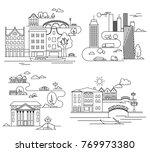 city landscapes line ... | Shutterstock . vector #769973380