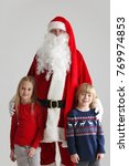 portrait of two children and...   Shutterstock . vector #769974853